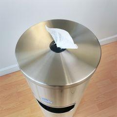Wipe Dispenser Floor Stand top