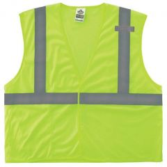 Buy GloWear Class 2 Economy Vest w/Pocket, Zipper Closure, L/XL, Lime on sale online