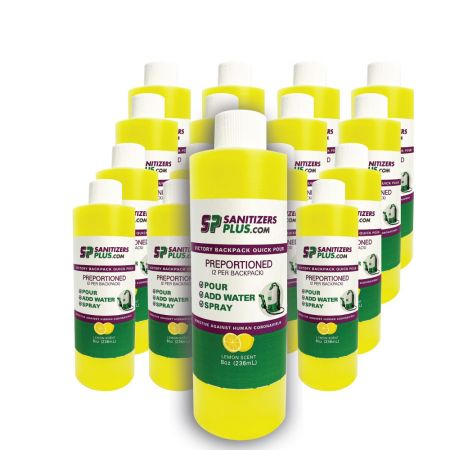 Victory Innovations Co  Quick Pour Lemon Guard Disinfectant - 16 Pack for Victory Backpack Sprayer