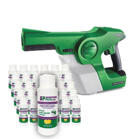 Victory Innovations Co Victory Professional Cordless Electrostatic Handheld Sprayer w/ 30 Pack Quick Pour Disinfectant