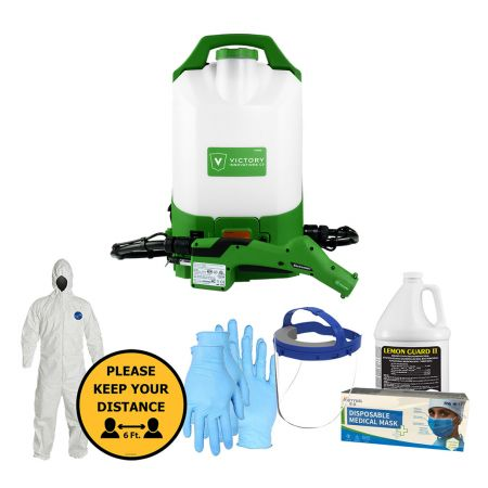 Sanitizers Plus Victory Cordless Electrostatic Backpack Sprayer Bundle
