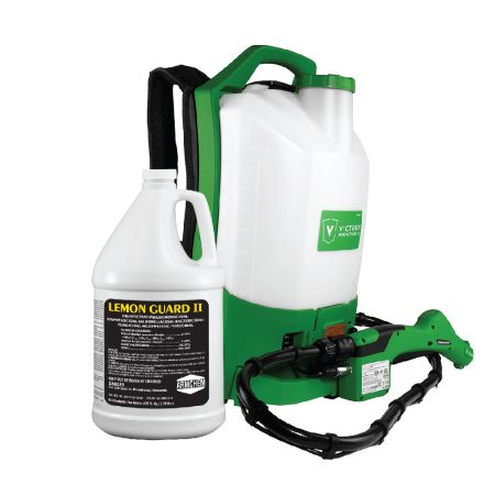 Sanitizers Plus Victory Cordless Electrostatic Backpack Sprayer w/ 1 Gallon Lemon Guard